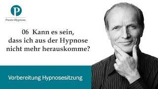 Kann es sein, dass ich aus der Hypnose nicht mehr herauskomme?