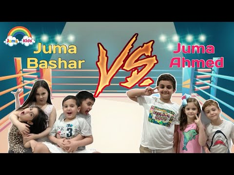 Obstacle Game with Cousins | Play Time with Juma Kids