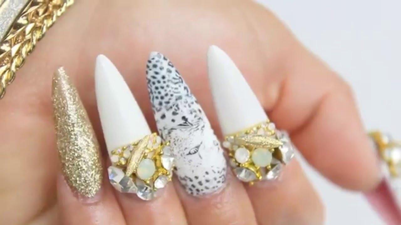 Gold stiletto nails tumblr