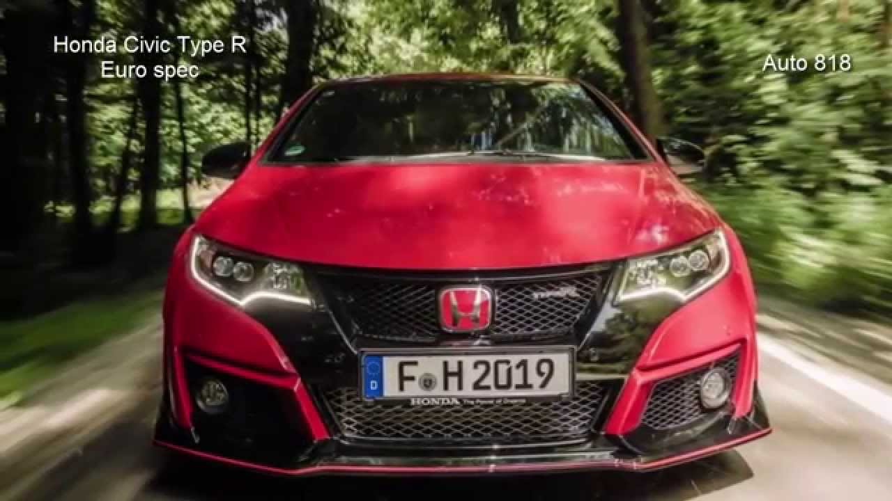 honda civic type  red blooded power youtube
