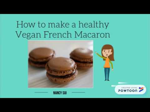How to make a healthy Vegan French Macaron