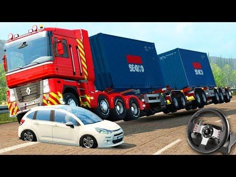 CAPOTEI O CAMINHÃO na VIAGEM!!! - Euro Truck Simulator 2 + G27
