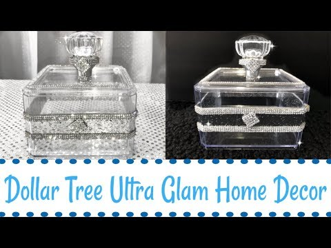 ultra-glam-diamond-home-decor-#springdecor-#blingismything-#dollartreedecor-#dollartree-#homedecor