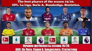 Лучшие футболисты сезона 19 20 АПЛ Ла Лига Серия А Бундеслига Статистика