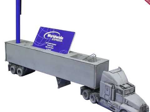 Semi truck business card holder youtube semi truck business card holder colourmoves