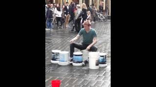 Bucket Man Drummer-Pitt Street, Sydney