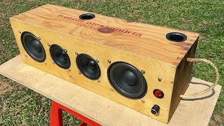 DIY Portable Bluetooth Speaker Boombox, Center Speaker (2x50W TDA7492 D Class High Power Amplifier)