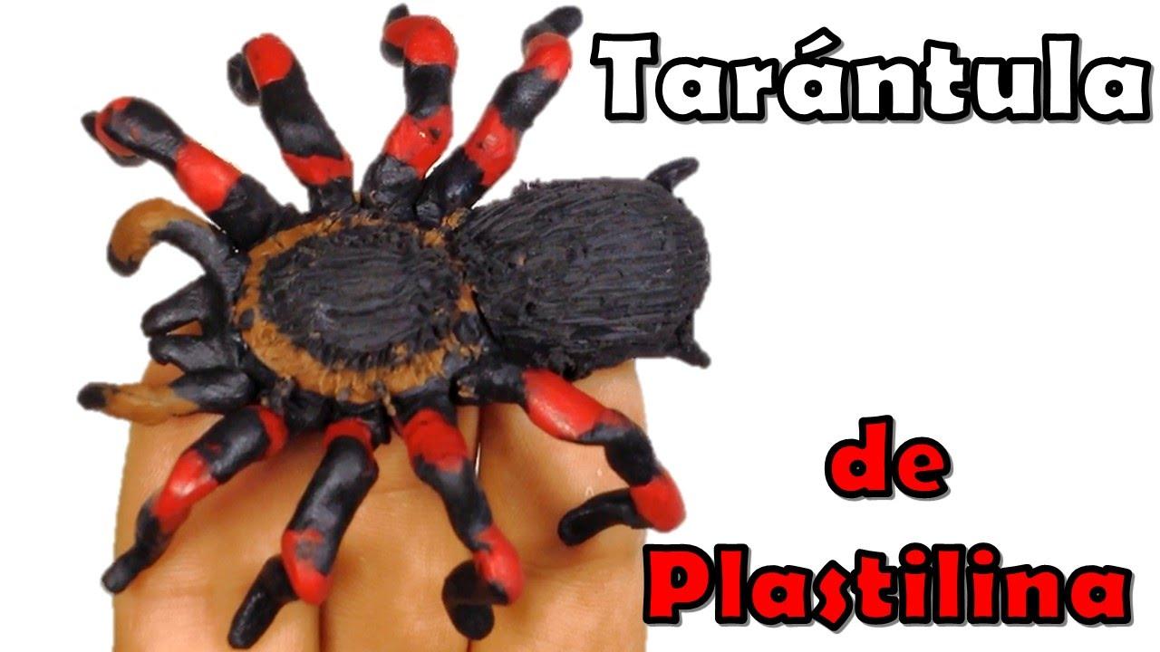 ✅ COMO HACER UNA ARAÑA TARANTULA DE PLASTILINA PASO A PASO ✅ MI ...