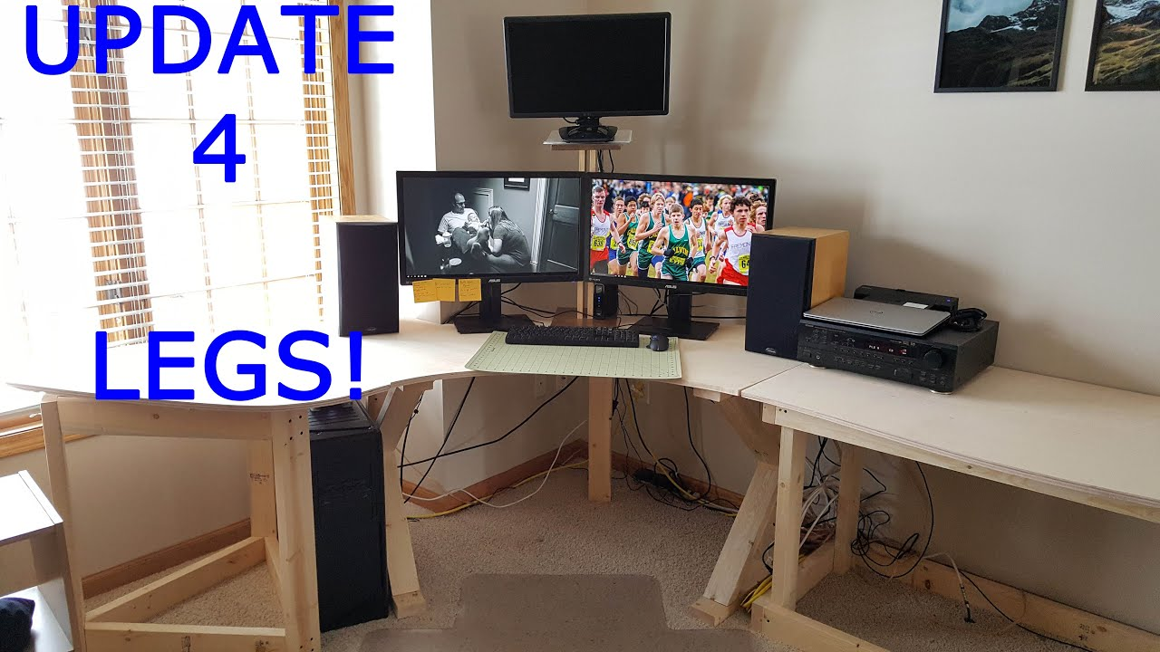 Ultimate Computer Desk Ultimate Computer Desk Setup  Part 4  Youtube