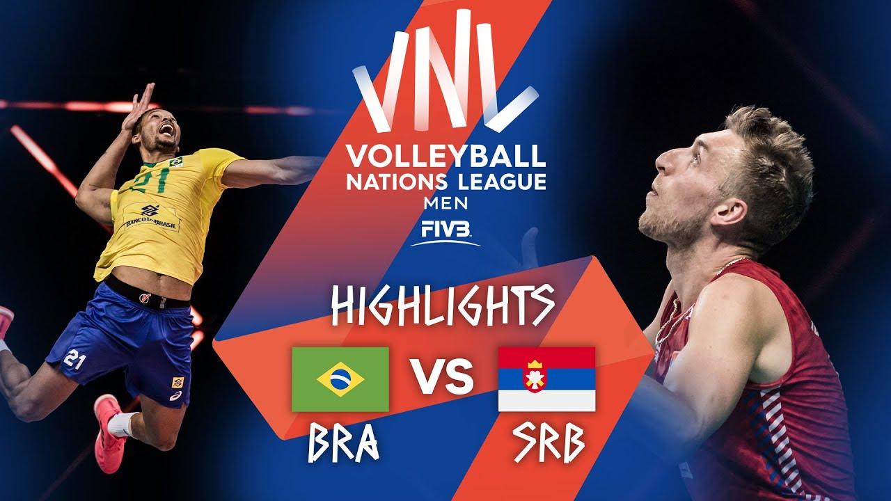 Download BRA vs. SRB - Highlights Week 2 | Men's VNL 2021