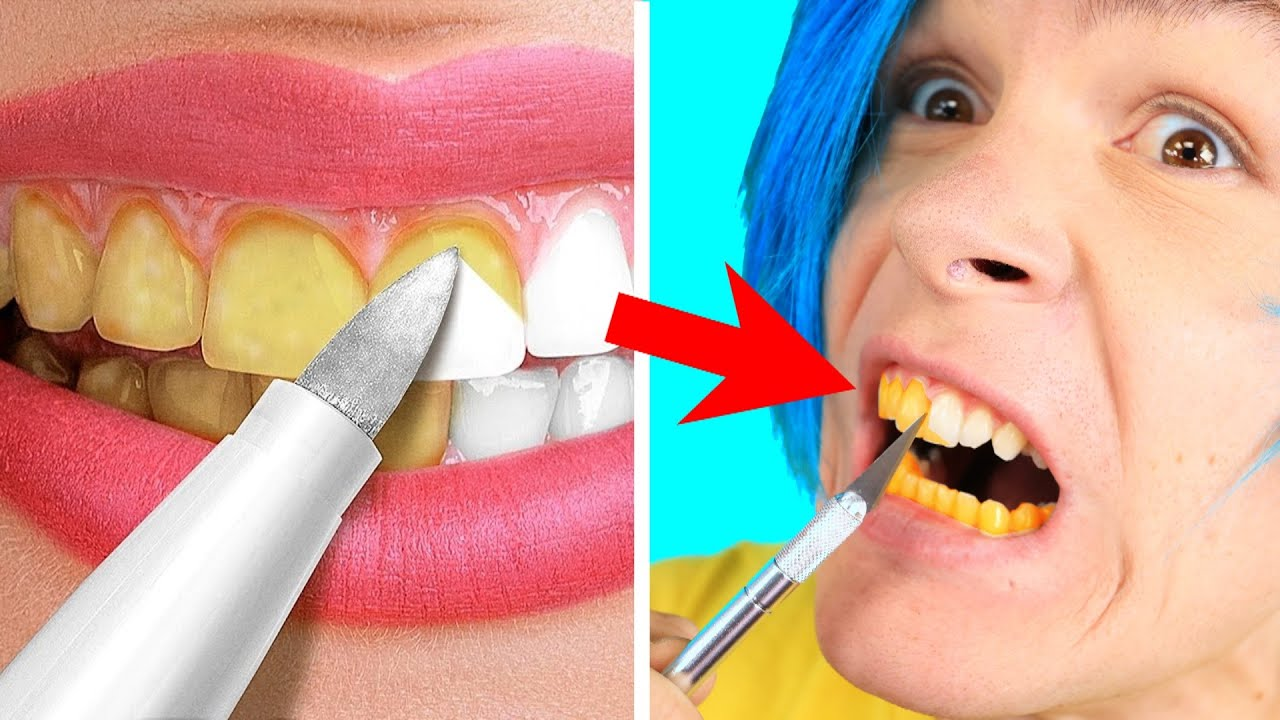 Trying 30 Amazing Hacks For A White Smile    Beauty Tricks and Tips By 5 Minute Crafts