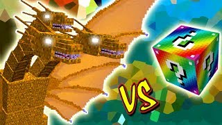 KING GHIDORAH VS. LUCKY BLOCK RAINBOW (MINECRAFT LUCKY BLOCK CHALLENGE)