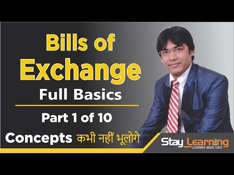 Bills of Exchange - 1 of 10 by Vijay Adarsh | CBSE Class | 11th | StayLearning |(HINDI | हिंदी)