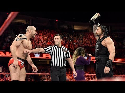 WWE Raw Highlights 2017 - Roman Reigns vs Cesaro Intercontinental Championship Match in WWE 2017 thumbnail