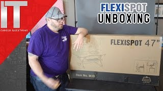 """Unboxing FlexiSpot M3B Sit Stand Desk - 47"""" Inch Stand Up Desk Quick Review"""