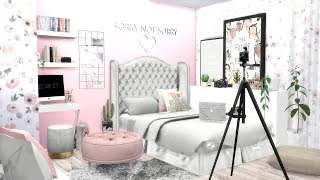 THE SIMS 4: SPEED BUILD // YOUTUBER'S BEDROOM + CC LINKS!