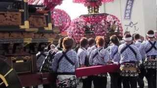 H24嶺田地区(静岡県菊川市)お祭りの様子です。