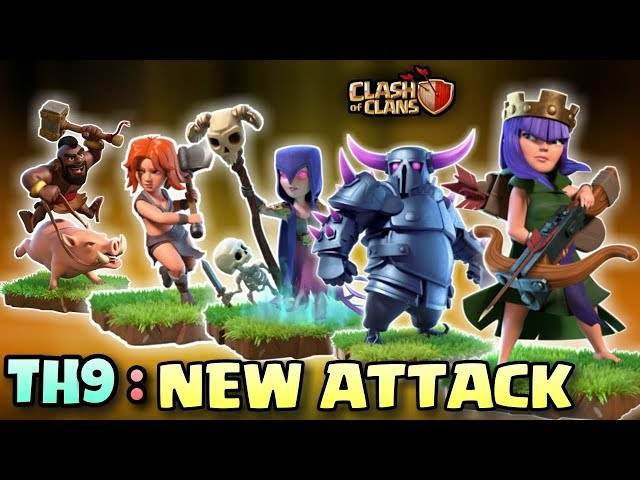 QUEEN CHARGE + GOVAWITCH + HOGS | New Th9 STRONG 3 STARS WAR ATTACK STRATEGY | Clash Of Clans
