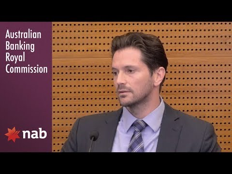 A NAB banker gives evidence at the Banking Royal Commission