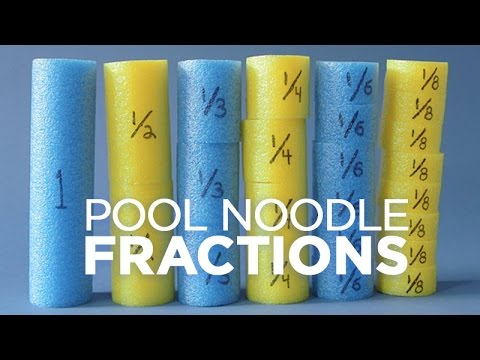 Fun Fractions Lesson with Pool Noodles YouTube