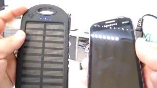 cargador portatil solar para celular, recomendaciones y funcionamiento