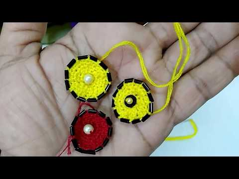 Colourful thread buttons made tutorial