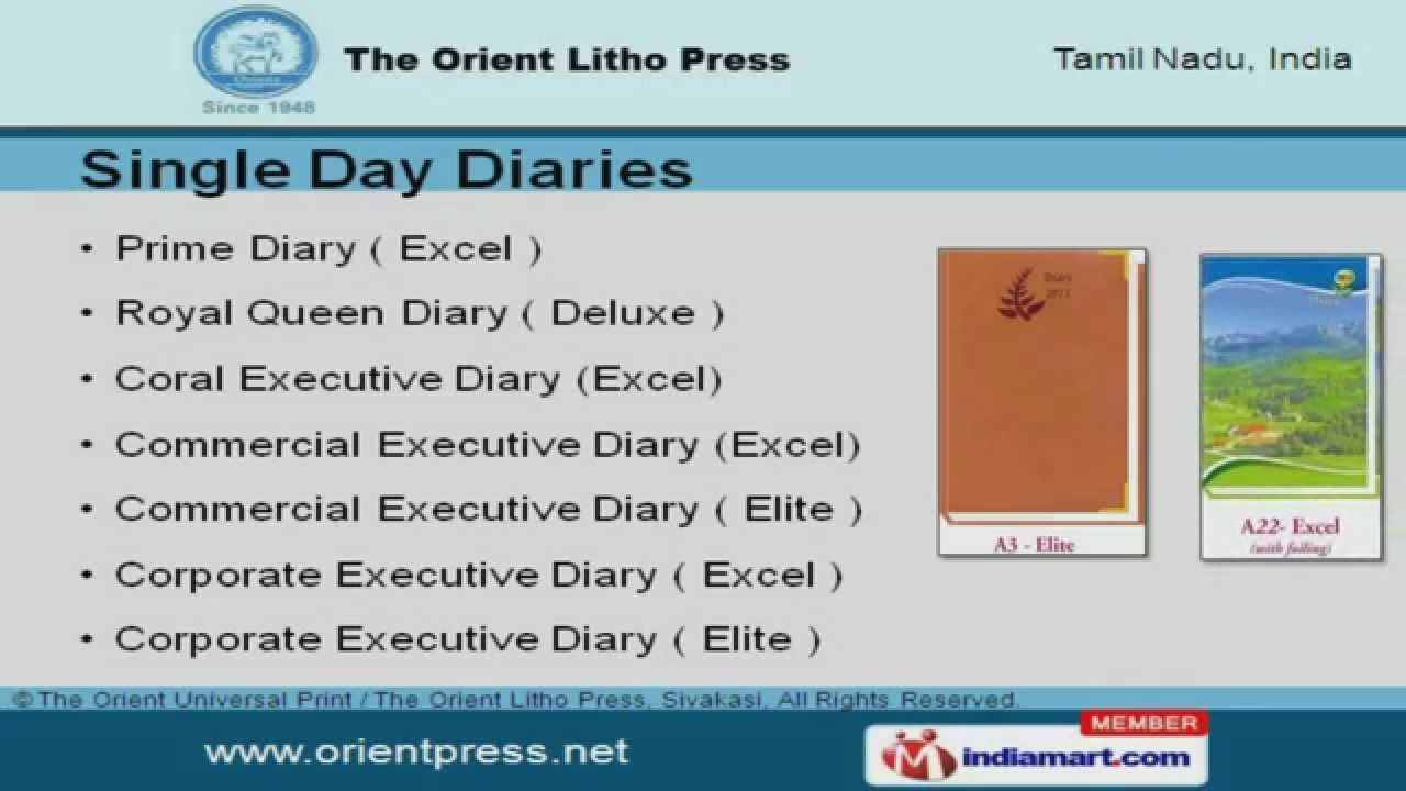 Stationary Items by The Orient Universal Print & The Orient Litho Press,  Sivakasi, Sivakasi
