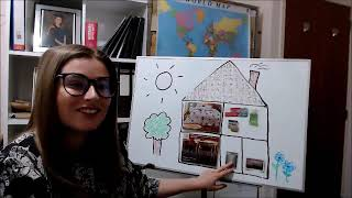 Rooms of a house and household objects - Learn English