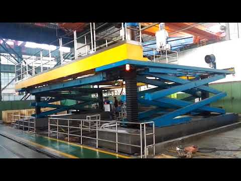 Large industrial lifting platform car lift chain lifting technology