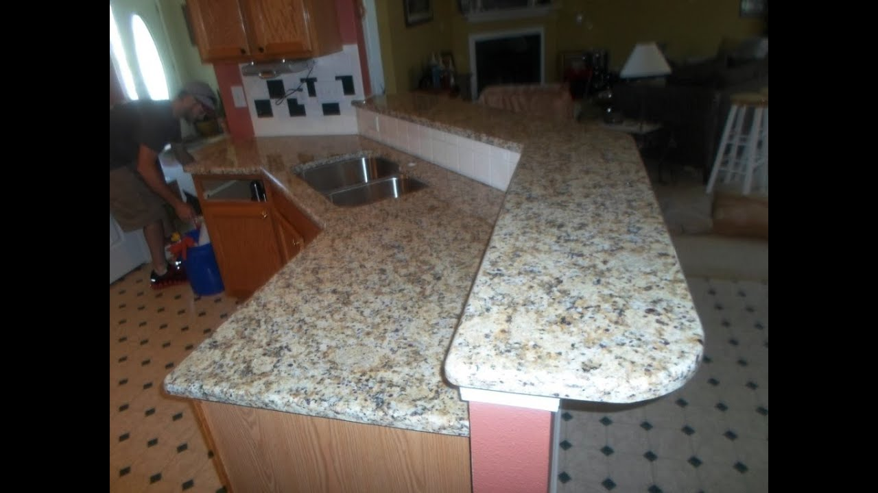 Giallo Napoli Granite Countertops Installed Charlotte Nc 5