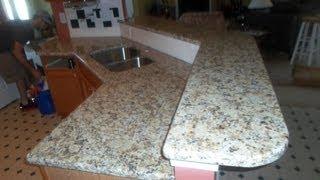 Giallo Napoli Granite Countertops Installed-charlotte Nc 5 14 13