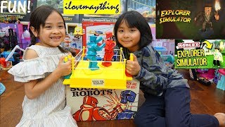 Toy Channel: Family Board Game Playtime, Boxing Robots. Kids Playing Explorer Simulator Roblox Game