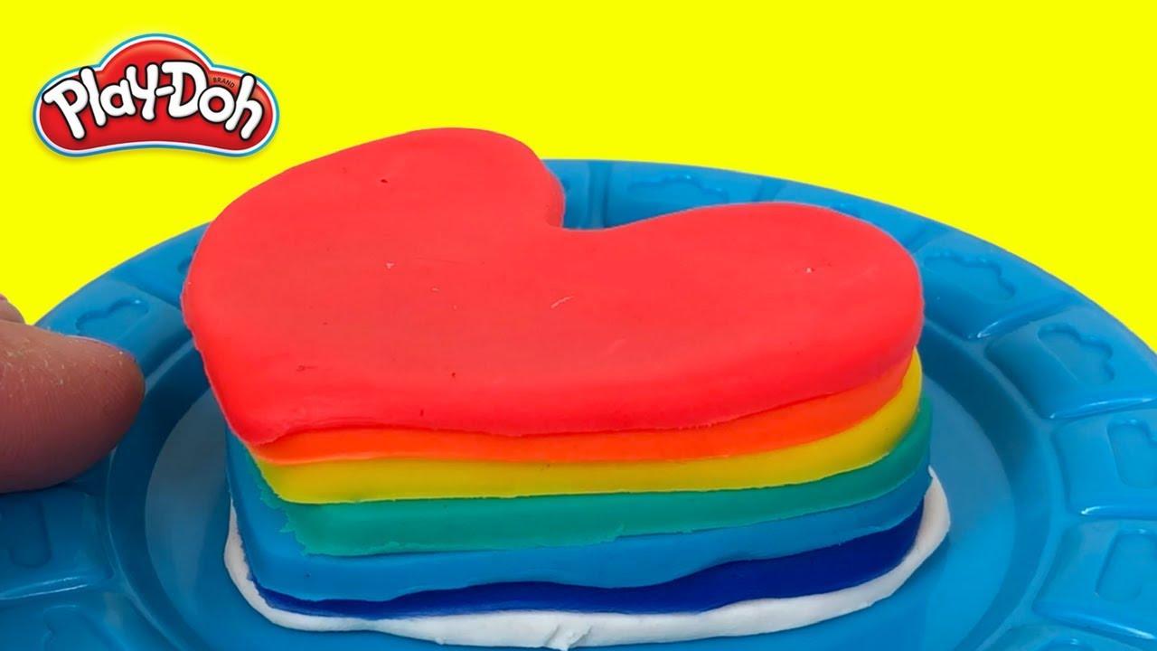 Valentine's Day Play-Doh Hearts Rainbow - Inimioare colorate pentru ziua indragostitilor #1