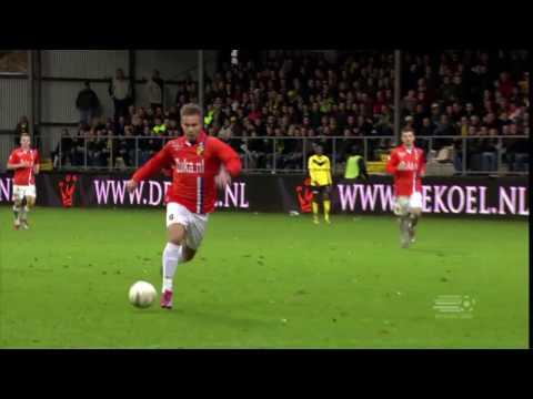 60 jaar Eredivisie: Invaller Marcus Pedersen scoort twee keer