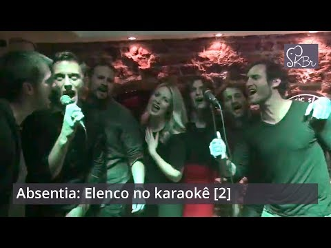 Absentia: Stana Katic & cast singing at a karaoke [2]