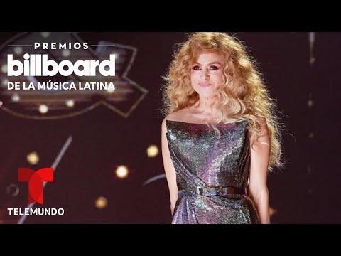 Entrevista: Paulina Rubio presume de su vestido de 'Campanita' en los Premios Billboard 2020