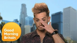 ariana grandes brother frankie gets emotional during interview on manchester bombing