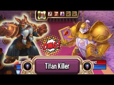 Monster Legends - Warmaster GORTAK IGNEUS level 130 [Titan Invasion] vs The Keeper Rabbish Tephra