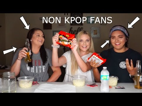 REACTING TO BTS WHILE EATING SPICY RAMEN - CHALLENGE