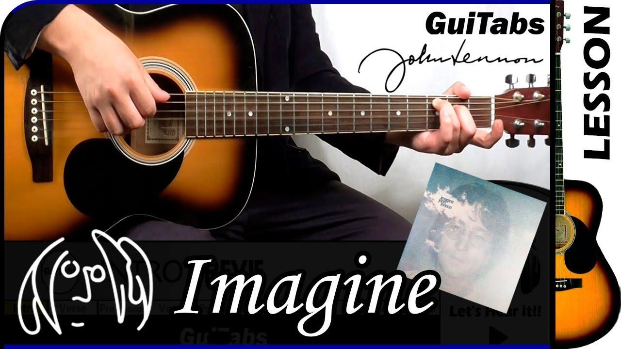 How To Play Imagine John Lennon Guitar Lesson Guitabs 157 Youtube