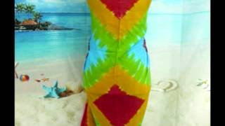 Rainbow Tie Dye Diamond Shape Sarong Pareo Wrap fashion accessories wholesale wholesalesarong.com