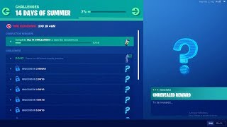FORTNITE 14 DAYS OF SUMMER DAY 2 CHALLENGE! NEW FREE ITEMS!