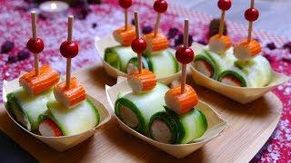 Закуски - канапе на праздничный стол 4 серия