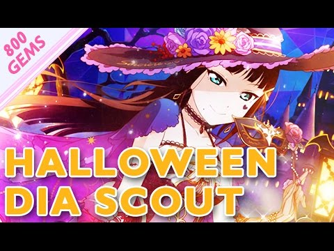 Halloween Dia Scouting! (800 Gems, 22 Tickets, 5 BT) // Love Live! SIF