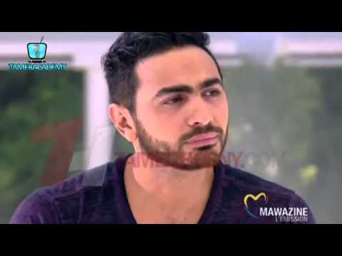 Tamer Hosny Interview before Mawazine Concert 2013