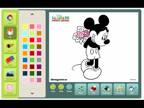 mickey mouse coloring games click and color disney - Mickey Mouse Colouring Games