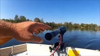 Review- Electric Trolling Motor vs Gas Outboard Video