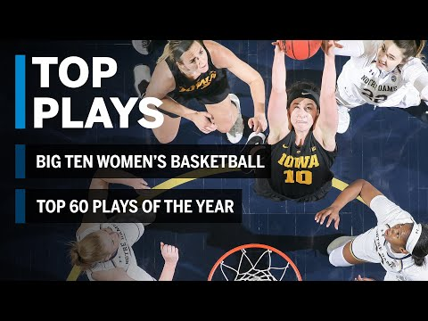 Top 60 Plays Of The Year | 2018-2019 B1G Women's Basketball