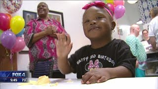 Ice cream shop hosts 3rd birthday for girl with down syndrome