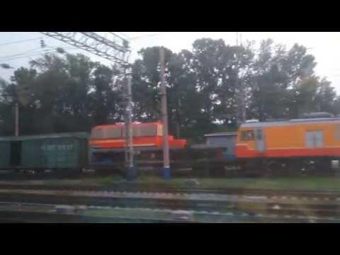 Вечерний Иркутск-Сортировочный из окна поезда...(ВСЖД)
